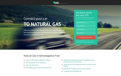 NG - Alternative Power Minimal HTML Bootstrap Landing Page Template