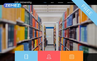 Plantilla Joomla de educación gratuita