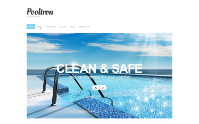 Swimming Pool Responsive Drupal Template