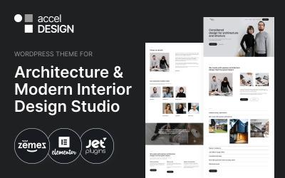 AccelDesign - Tema WordPress per lo studio di architettura e interior design moderno