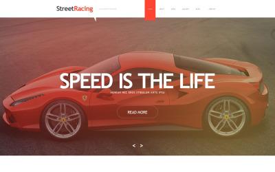Car Racing Muse Шаблон