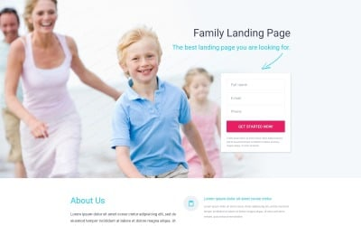 Family Center Responsive Landing Page Template