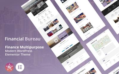 Фінансове бюро - Фінанси Багатоцільова сучасна тема WordPress Elementor