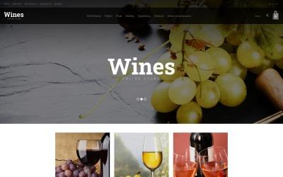 Modèle OpenCart de magasin de vin