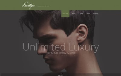 Male Beauty Salon Website Template