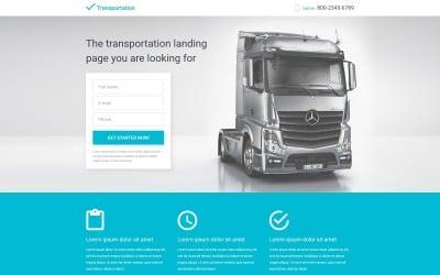 Transportation Responsive Landing Page Template