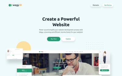 Wegy - багатоцільовий бізнес Joomla шаблон