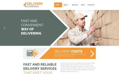 Empresa de entrega - Plantilla Joomla limpia de servicios de entrega