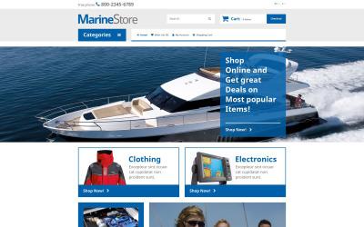 Шаблон OpenCart для морського магазину