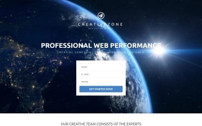 Безкоштовна цільова сторінка дизайнерської студії