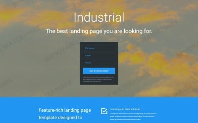 Industrial Responsive Landing Page Template