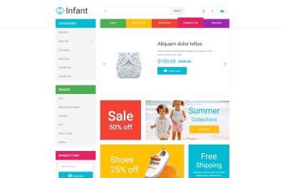 Infant Clothing Store OpenCart Template