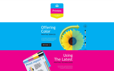Modelo de boletim informativo responsivo para loja de impressão
