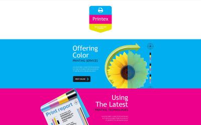Plantilla de boletín informativo adaptable para tienda de impresión