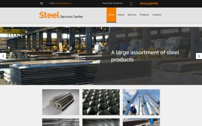 Steelworks Moto CMS 3 Template