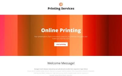 Plantilla de página de destino receptiva para tienda de impresión