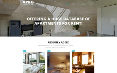 Real Estate Agency Moto CMS 3 Template