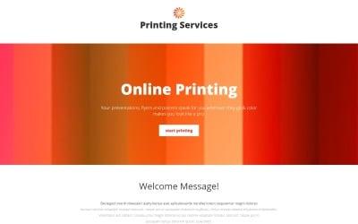 Шаблон адаптивной целевой страницы для типографии