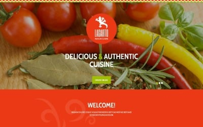 Mexican Restaurant Responsive Landing Page Template