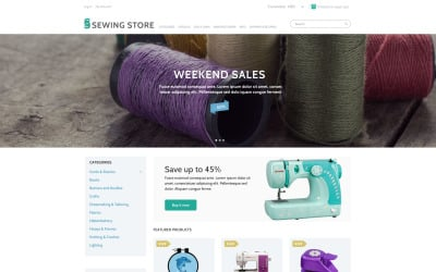 Sewing Marketplace ZenCart Template