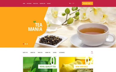 Tea Mania OpenCart шаблон