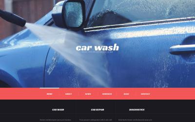 Responsivt WordPress-tema för biltvätt
