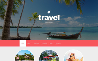 Адаптивний Drupal шаблон туристичного агентства