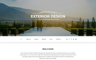 Zöld bolygó - külső tervezésre érzékeny modern Joomla sablon