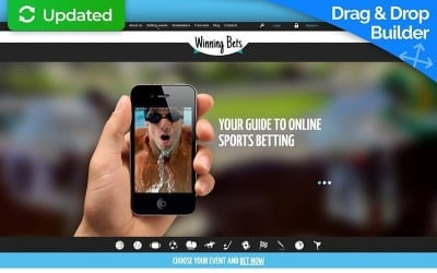 Online Betting Moto CMS 3 Template
