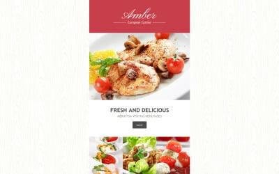 European Restaurant Responsive Newsletter Template