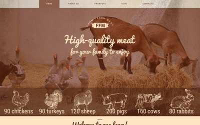 Motyw WordPress Farm Fresh Meats