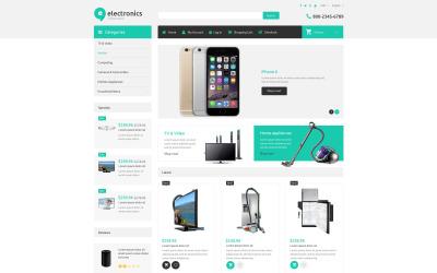 Responsieve ZenCart-sjabloon voor elektronicawinkels