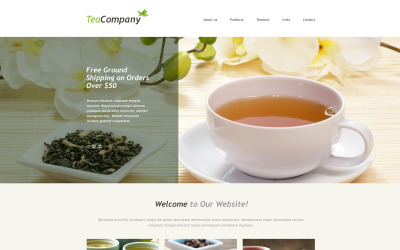 Tea Shop Muse Template