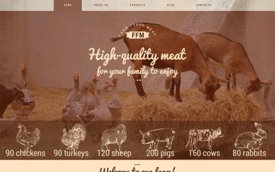 Tema WordPress per carni fresche di fattoria