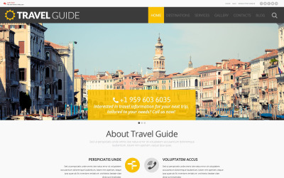 WordPress тема путеводителя