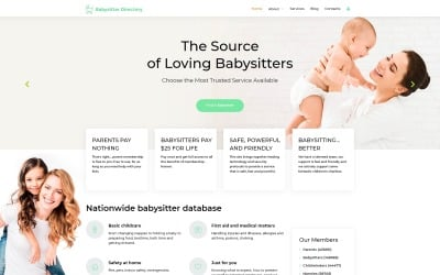 Babysitter Directory - Babysitter Ready-to-Use Clean Joomla Template