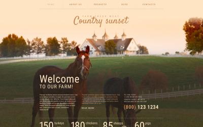 Country Sunset WordPress-thema