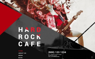 Hard Rock Cafe Joomla Template