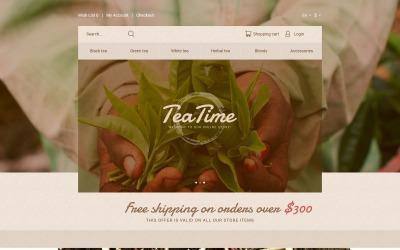 Tea Time OpenCart-sjabloon