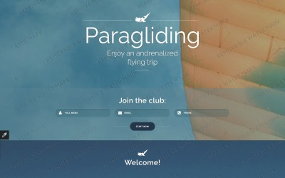 Modèle de page d'atterrissage réactif de parapente