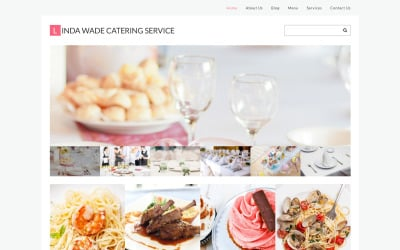Tema WordPress adaptable para catering