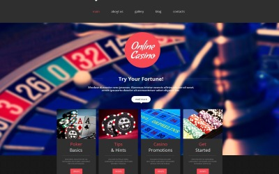 Online Casino Moto CMS HTML Template