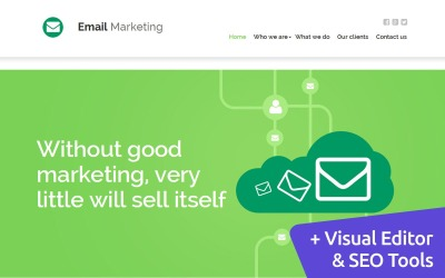 Email Marketing Moto CMS 3 Template