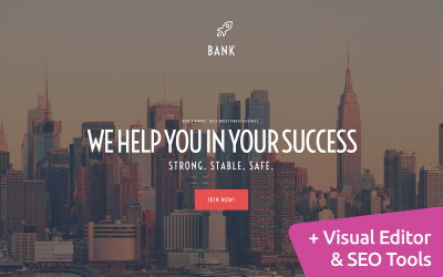 Bank Website Design Moto CMS 3 Template