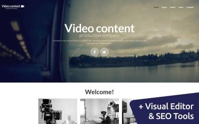 Видеоконтент - Шаблон Продюсерской компании Moto CMS 3