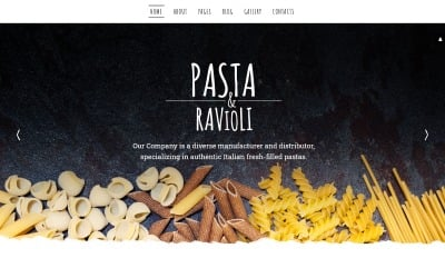 Pasta  Ravioli Joomla Template