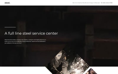 Steelworks Landing Page Template