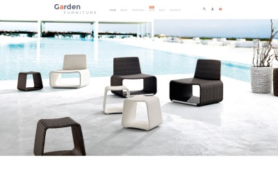 Tema WooCommerce de móveis de jardim