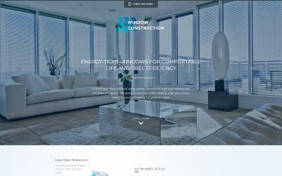 Ablaképítés - Ablakok és ajtók HTML Bootstrap céloldal sablon
