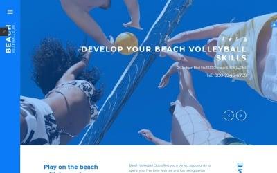 Beach Volleyball Club Joomla Template